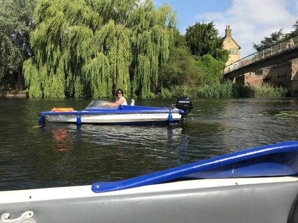 Day boat hire river Ouse, Godmanchester Cambridgeshire